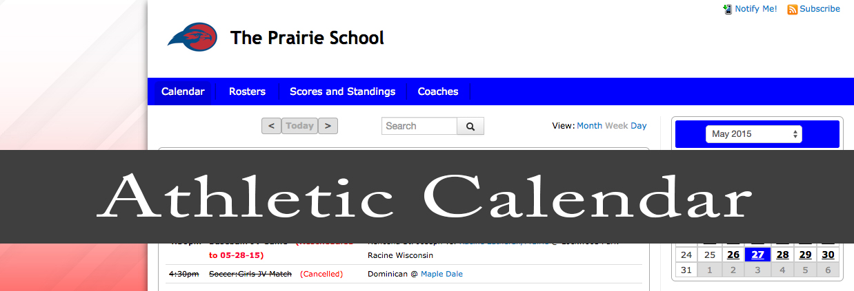 Tps Calendar.Athletics The Prairie Schoolthe Prairie School